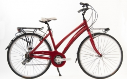 Bici City da donna Acera colore rossa