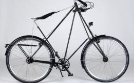 Recuperata bici d'epoca danese marca Perdersen